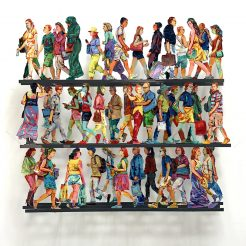 David Gerstein, Fifth Ave, Hand painted cutout aluminum, 70x80x15 cm