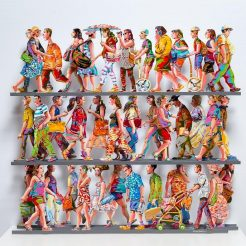 David Gerstein, Fifth Avenue, Hand Painted Cutout Aluminium, 70 x 70 x 15 cm (2)