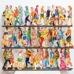 David Gerstein, Fifth Avenue, Hand painted cutout aluminum, 70 x 70 x 15 cm, Ed. 53 of 150