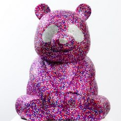 Hiro Ando, Pandasan Diamond Strass Multi Pink, Mix Media Resin and Diamond Strass, Ed. of 8, 55 cm (2)