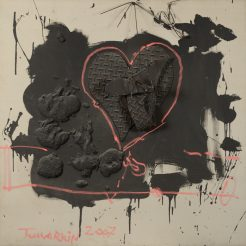 Igael Tumarkin_ Love_ Mixed Media on Canvas - 100 x 100 cm - 4