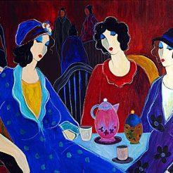 Itzchak Tarkay, Acrylic on Canvas - 80 x 100 cm - 2