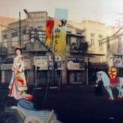 Joshua Griffit, Fantasy street, Mixed Media on Canvas - 200 x 250 cm - 1