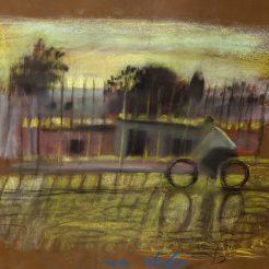 Leonid Balaklav_ Village scene_ Pastel on paper.60 x 90 cm - 20