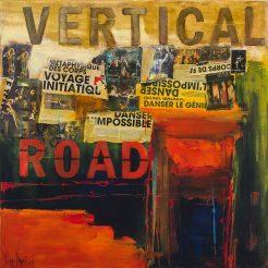 Lilane Danino, Vertical Road, 2015, Mix Media, 100 x 100 cm