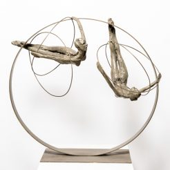Liliane Danino, Two Dancer on Circle, 2018, Bronze, Silver Patin, 63 x 69 x 40 cm (2)