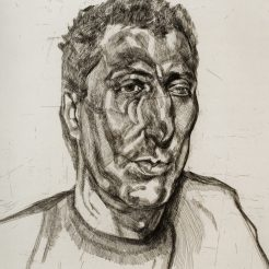 Lucien Freud, Head of Ali, 1999, Etching on White Somerset Textured Paper - 76 x 58 cm - 1A