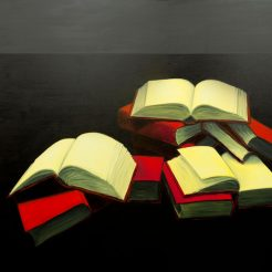 Meir-Pichhadze_-Books_-Oil-on-Canvas---130-x-180-cm---28