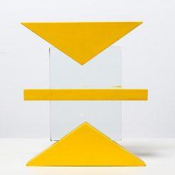 Menashe Kadishman, Wood and Glass, 20 X 17 X 3 cm (5)