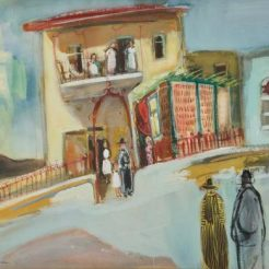 Nachum Gutman, Jerusalem, Watercolour on paper, 47.5 x 59 cm - Signed and dated 1947