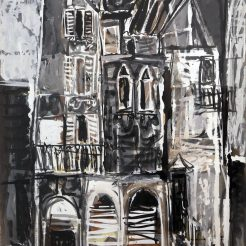 Samuel Bak, Untitled, mixed media, -50 x 33 cm - 35