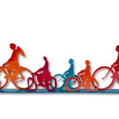 Uri Dushi_ Bicycles_ Bronze_ 25x123x6cm