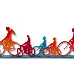 Uri Dushi_ Bicycles_ Bronze_ 25x123x6cm