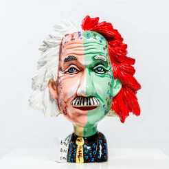 Yuval Mahler, Einstein, 2018, Paint on Fiberglass, 37 x 28 x 20 cm (2)