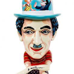 Yuval-Mahler_--Charlie-Chaplin_-Paint-on-Fibreglass---40-x-20-x-20-cm---17A